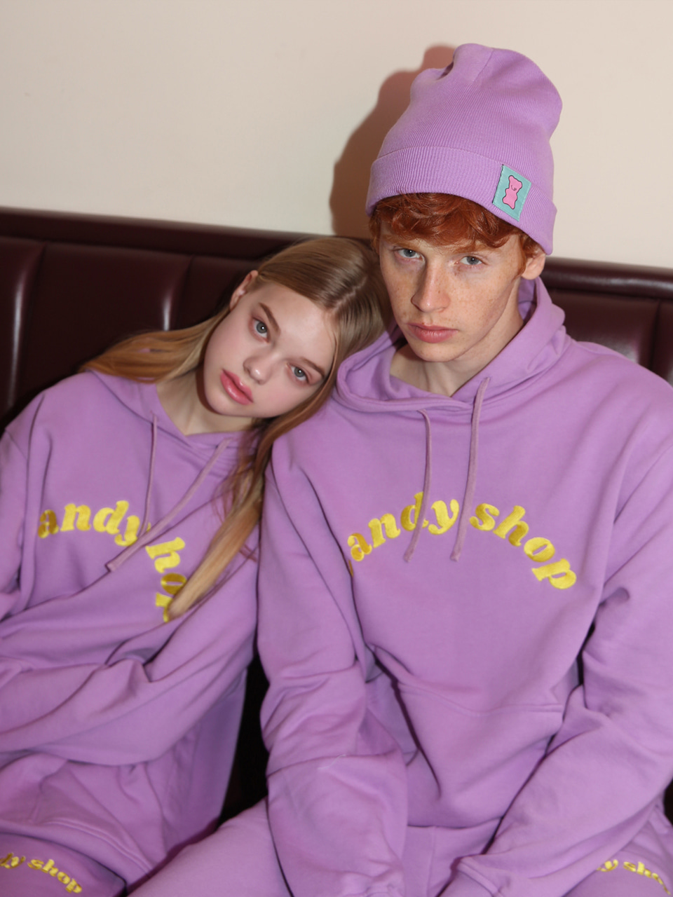 [10%SALE] Candy shop logo hood - PURPLE
